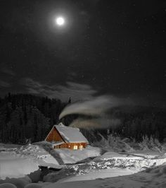 A beautiful, clear cold night.