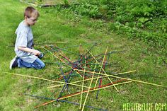 Giant Pick-up Sticks {Hello Summer} I Heart Nap Time | I Heart Nap Time - Easy recipes, DIY crafts, Homemaking