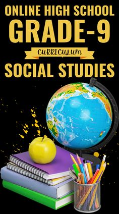 Students should have a demonstrable understanding of the concepts covered in Middle School Social Studies before enrolling in High School Social Studies. School Routine For Teens, School Routines, School Hacks, Online High School, In High School, Middle School, Curriculum, Homeschool, School Grades