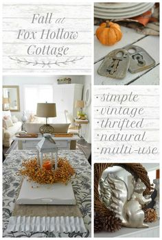Fall Decorating Ideas:: simple, vintage, thrifted, natural and versatile decor items like the multi-season lantern make adorning your home stress free for the holiday.