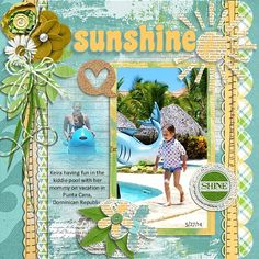Here Comes the Sun products – Created by Pixelily Designs http://store.gingerscraps.net/Pixelily-Designs/ Bigger is Better Templates – Creat...