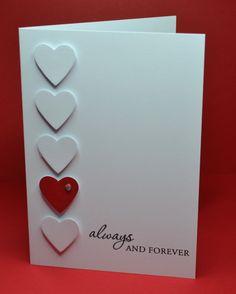 •Carte pour la Saint-Valentin très simple #Saint-Valentin #coeurs /  •Stampin'Up! Valentine's Card #valentine #hearts / texte par-text by mellandry9