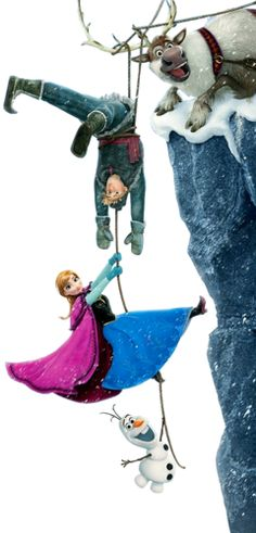Anna, Kristoff, Olaf and, Sven