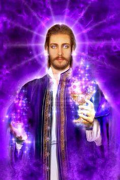 Saint Germain-la llama violeta transmutadora
