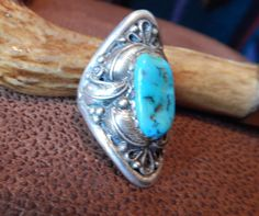 Vintage turquoise ring long 11 plus Native American Jewelry turquoise jewelry estate jewelry womens jewelry Texas old pawn signed by CherokeeKachinaCasey on Etsy