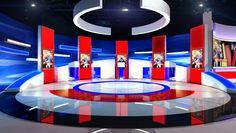 Set Design Proposal Jamuna TV Bangladesh on Behance Tv Set Design, Stage Set Design, Virtual Studio, Tv Sets, Logo Reveal, News Studio, New Set, Event Decor, Staging