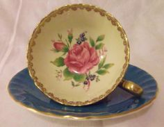 Aynsley Bone China Footed Cabinet Cup & Saucer, Pattern 1033