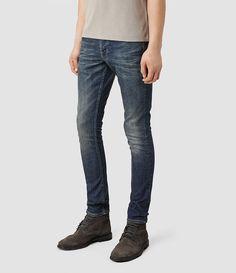 Mens Stamp Cigarette Jeans (Indigo) - product_image_alt_text_2