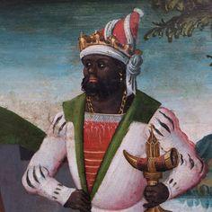 Anônimo (Alta Saxônia) - - - - - - - - - - - - - - - - - - - - - - Retábulo com a Virgem e os Santos (detalhe) ... Alemanha (cerca de 1510) ... AFRICANOS/PRETOS/MOUROS e o RENASCIMENTO DA EUROPA