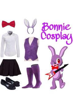 Idea for my Comic Con cosplay... Me and my Friend are going to comic con in August and we want to do FNAF cosplays and she quickly wanted Foxy but I didn't mind. Fun fact my fav FNAF character is Bonnie. #FNAF #Bonnie #Cosplay #Idea