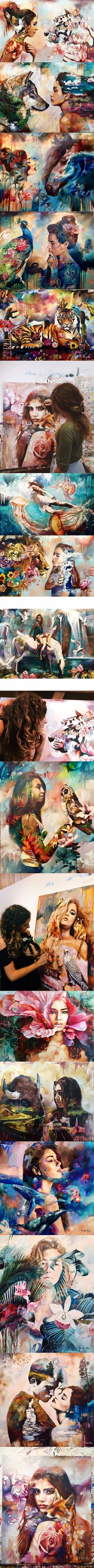 Dimitra Milan paintings reflect a dreamy world