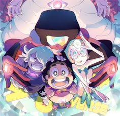 Crystal Gems - Garnet, Amethyst, Steven, and Pearl