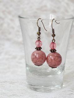 Brincos Princesa Rosa - Pink Princess Earrings | Beat Bijou | Elo7