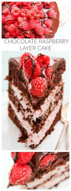 Chocolate Raspberry Layer Cake Pin