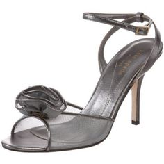 Kate Spade New York Women's Cam Ankle-Strap Sandal Peep Toe Shoes, Ankle Strap Sandals, Kate Spade, Sunglasses, York, How To Wear, Accessories, Metallic, Roses