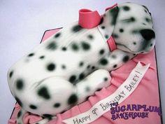 Sleeping Dalmation Puppy Cake