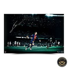 Lionel Messi Autographed/Signed Limited Edition Colors of the Game Barcelona Picture - UDA * Be sure to check out this awesome product.