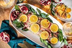 Štědrovečerní večeře Kitchenette, Grapefruit, Cobb Salad, Menu, Menu Board Design, Kitchen Nook