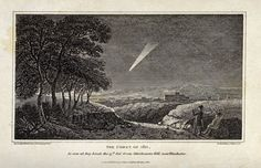 Astronomy: a large, bright, comet in the night sky. CC-BY Wellcome Library. Celestial Map, Wellcome Collection, Space And Astronomy, Ciel, Night Skies, Wall Prints, Astrology, Sketches, Sky