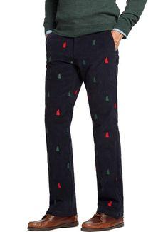 Beachcomber Corduroy Pant Crimson with Christmas Tree | Corduroy ...