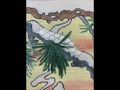(1333) Lazy Daisy Pine Needles for Needlepoint - YouTube Needlepoint Stitches, Needlepoint Canvases, Pine Needles, Lazy, Youtube, Youtubers, Youtube Movies