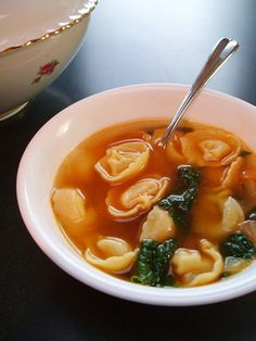 Post image for Spinach Tortellini Soup