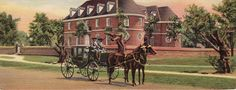 Old Capitol Building and Colonial Coach, Williamsburg, VA. Postcard by Tichnor Bros., Inc. ca. 1930 (Boston Public Library)