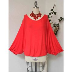 Versatile Off Shoulder Lagenlook Plus Size Tunic Fits Up to 3xl ($25) ❤ liked on Polyvore featuring tops, tunics, red, women's clothing, plus size one shoulder top, off the shoulder tops, womens plus size tunics, red off the shoulder top and red tunic