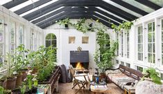 How to make the small greenhouse? There are some tempting seven basic steps to make the small greenhouse to beautify your garden. Greenhouse Interiors, Indoor Greenhouse, Small Greenhouse, Greenhouse Plans, Porch Greenhouse, Outdoor Rooms, Outdoor Living, Exterior Design, Interior And Exterior