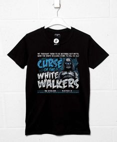 Curse Of The White Walkers T Shirt - Black / XL