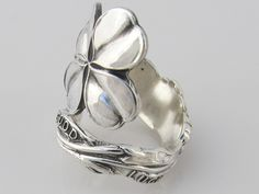Good Luck Solid Sterling Silver Size 7 Spoon Ring by dankartistry, $78.00