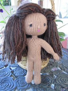 """Knit Doll  - Free Pattern - PDF File - Click """"download"""" or """"free Ravelry download"""" here: http://www.ravelry.com/patterns/library/grace-notes-knit-doll"""