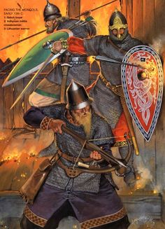 Russian troops during the Mongol invasion