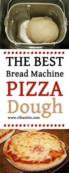 The Best Bread Machine Pizza Dough Stop waiting for dough to rise! The Best Bread Machine Pizza Dough is ready in just 20 minutes! Best Pizza Dough Recipe Bread Machine, Pizza Dough Bread Machine, Bread Maker Recipes, Bread Pizza, Pizza Recipes, Dough Machine, Dough Pizza, Bread Machine Rolls, Simple Pizza Dough Recipe