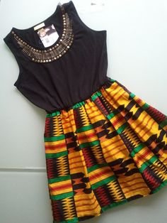 Super cute! :) African tribal print dress