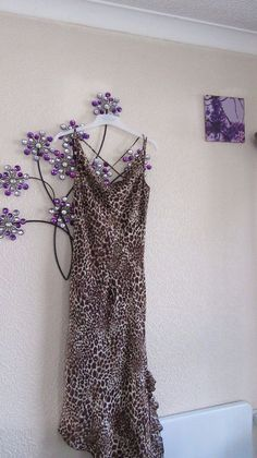 Dorothy Perkins Brown Animal  Print Lined  maxi dress  size 10 #DorothyPerkins #Maxi #Party