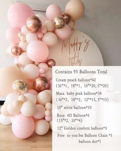 Balloon Arch Diy, Balloon Backdrop, Balloon Decorations Party, Balloon Columns, Ballon Arch, Pastel Balloons, Rose Gold Balloons, White Balloons, Confetti Balloons