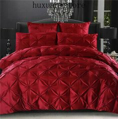 Cheap satin bedding set, Buy Quality bed set directly from China bedding set Suppliers: European Luxury Washed Silk Satin Bedding Sets Queen/King Size Cotton Bedding Solid Wedding Pulling Ruffle Bed Set Pcs Red Bedding Sets, Satin Bedding, Cheap Bedding Sets, Queen Bedding Sets, Duvet Bedding, Luxury Bedding Sets, Cotton Bedding, King Comforter, Ruffle Duvet