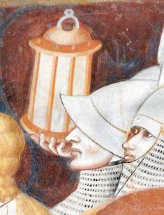 """LANTERNA; Basilica di S. Abbondio, Como; parete absidale. Episodio """"Il Bacio di Giuda"""", facente parte del ciclo di affreschi realizzato da ignote maestranze giottesche (tra le quali si segnala il c.d. """"Maestro di S. Abbondio) tra il 1315 ed il 1325 c., durante l'episcopato del vescovo francescano Leone Lambertenghi. Foto di ANDREA CARLONI - Rimini (2015)"""