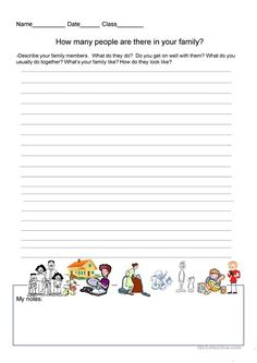 Writing Exercise - Talk about your family