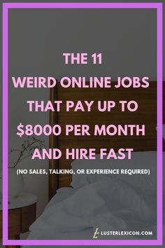 14 Best Work from Home Jobs that Hire Fast & Pay Good - Luster Lexicon - - Does making a liveable income online sound good to you? These are the 13 best work from home jobs that hire fast and pay good in Ways To Earn Money, Earn Money From Home, Make Money Online, How To Make Money, Learn Online, Hobbies That Make Money, Money Today, Work From Home Companies, Work From Home Opportunities