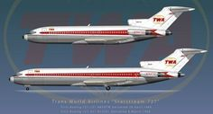 A TWA Boeing 727-100 and 727-200 - Image: JP Santiago