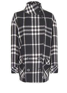 Double breasted straight-cut check coat with wool. Button fastenings at collar, twin XL pockets with lapel and fully lined. Mango Coats, Mango Outlet, Check Coat, Cool Style, My Style, Manga, Straight Cut, Plaid, Chic