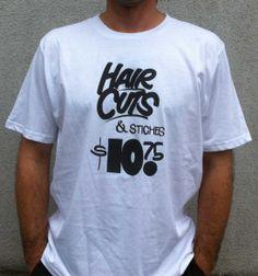 Hair Cuts & Stitches - white New T, Stitches, Hair Cuts, Colors, Mens Tops, T Shirt, Black, Fashion, Dots