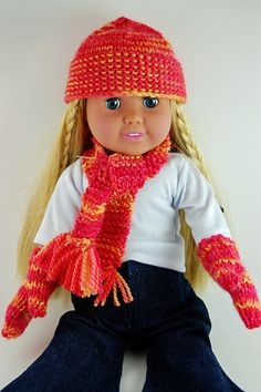 need mom to refresh my knitting skills.....cute for their AG dolls