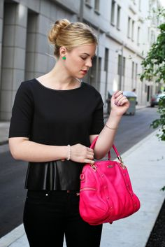 Britt+Whit| Hot Pink Rebecca Minkoff bag