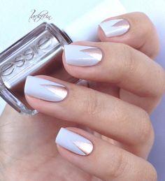 geometric nail manicure