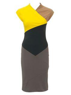 burda style, Schnittmuster - Raffiniert geschnittenes Kleid in auffälligen Farben. Nr. 117 B aus 2/2012