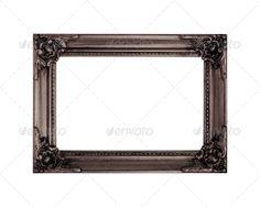 Old vintage frame isolated on white background 1