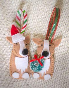 Hand-sewn Corgi Dog Ornament